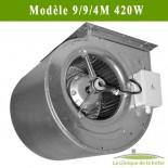 Moteur ventilateur escargot Modèle DDM 9/9/4